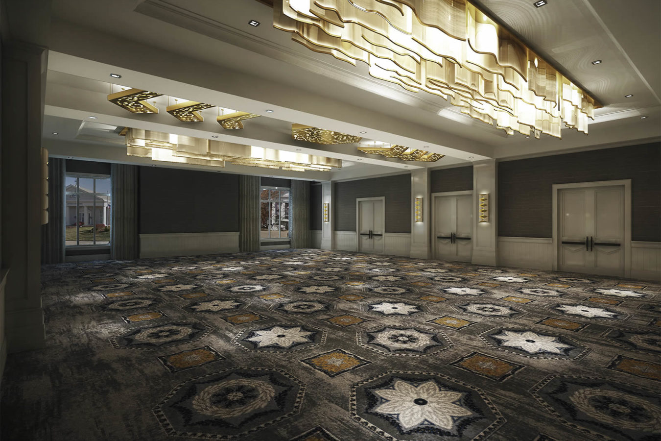Rendering of the ballroom at the Harpeth Hotel