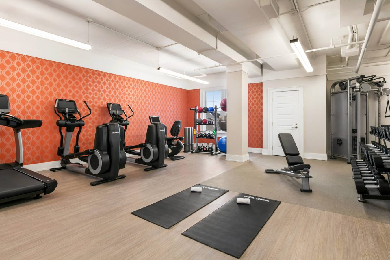 Fitness center at the Hotel Harpeth, Downtown Franklin Hotel