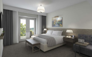 Rendering of a guest room at the Harpeth Hotel
