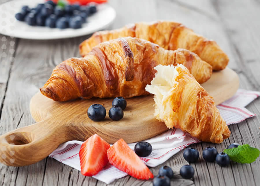 croissants and fruit from McGavock's Coffee Bar and Provisions.