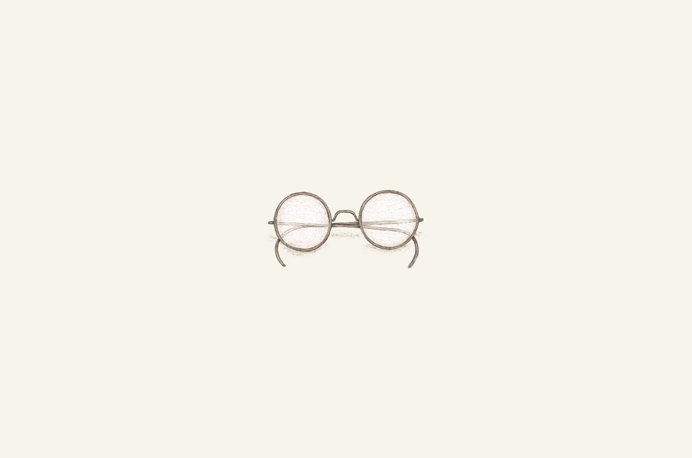 illustration of Ben Franklin's spectacles.