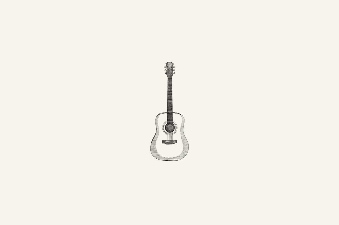 illustration of acoustic guitar.