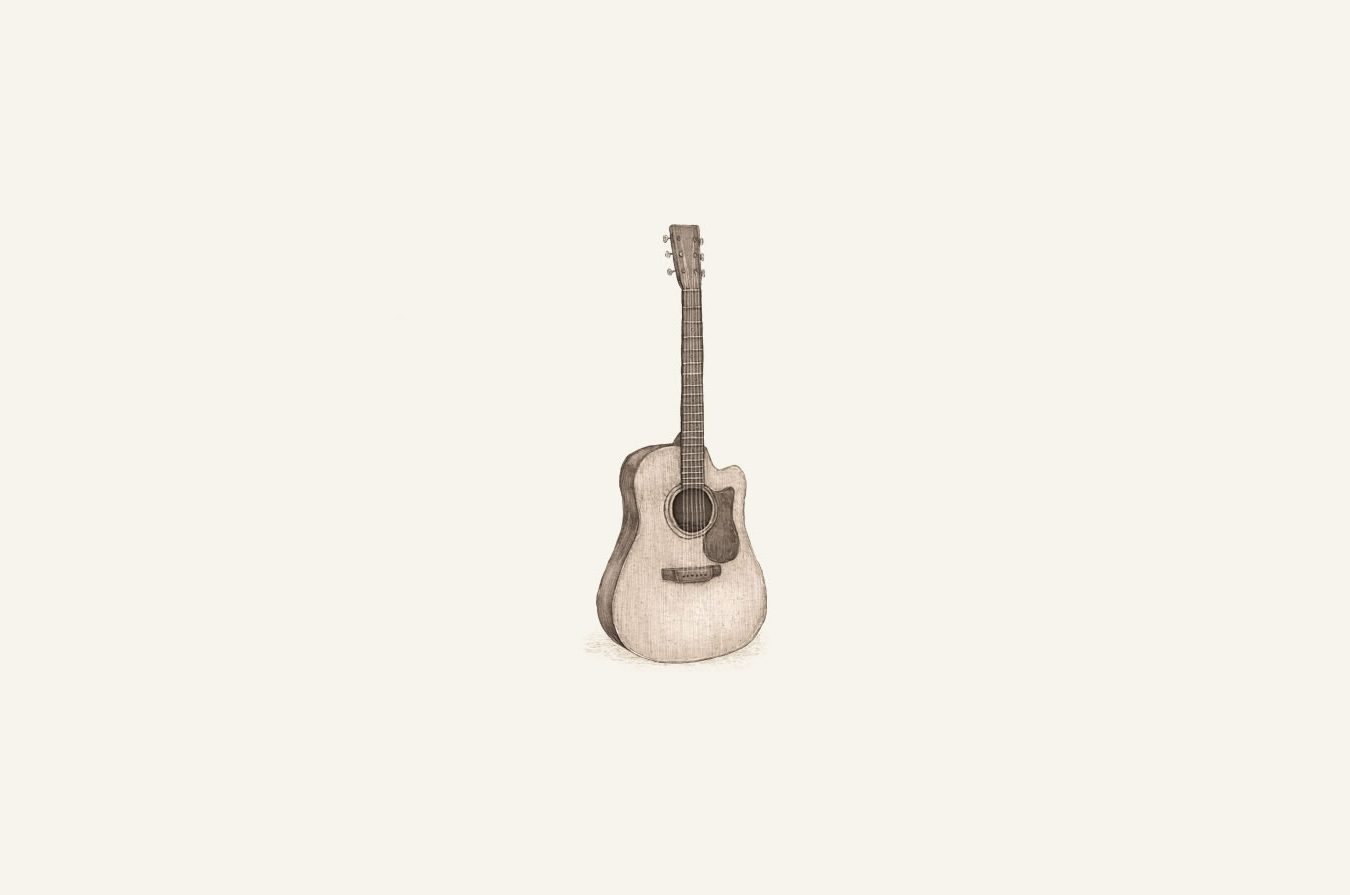 illustration of acoustic guitar.