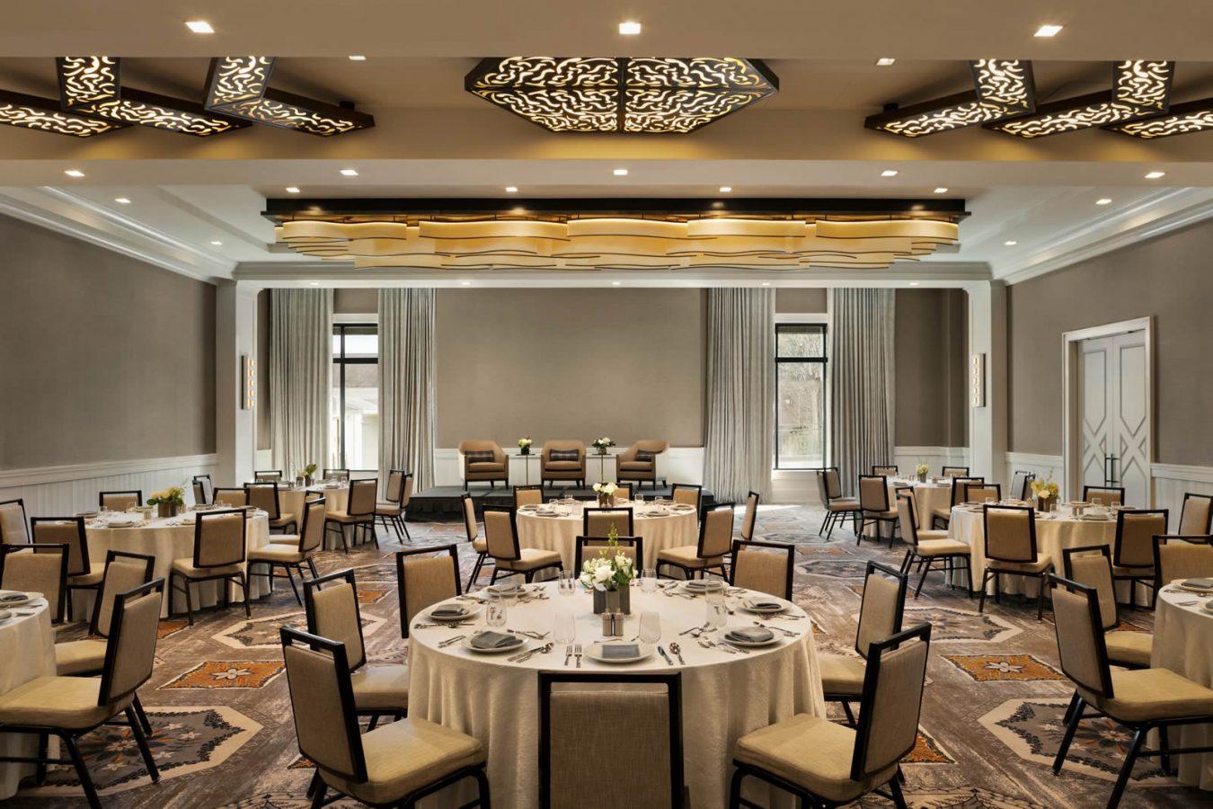 Riverside Ballroom set up for a banquet event
