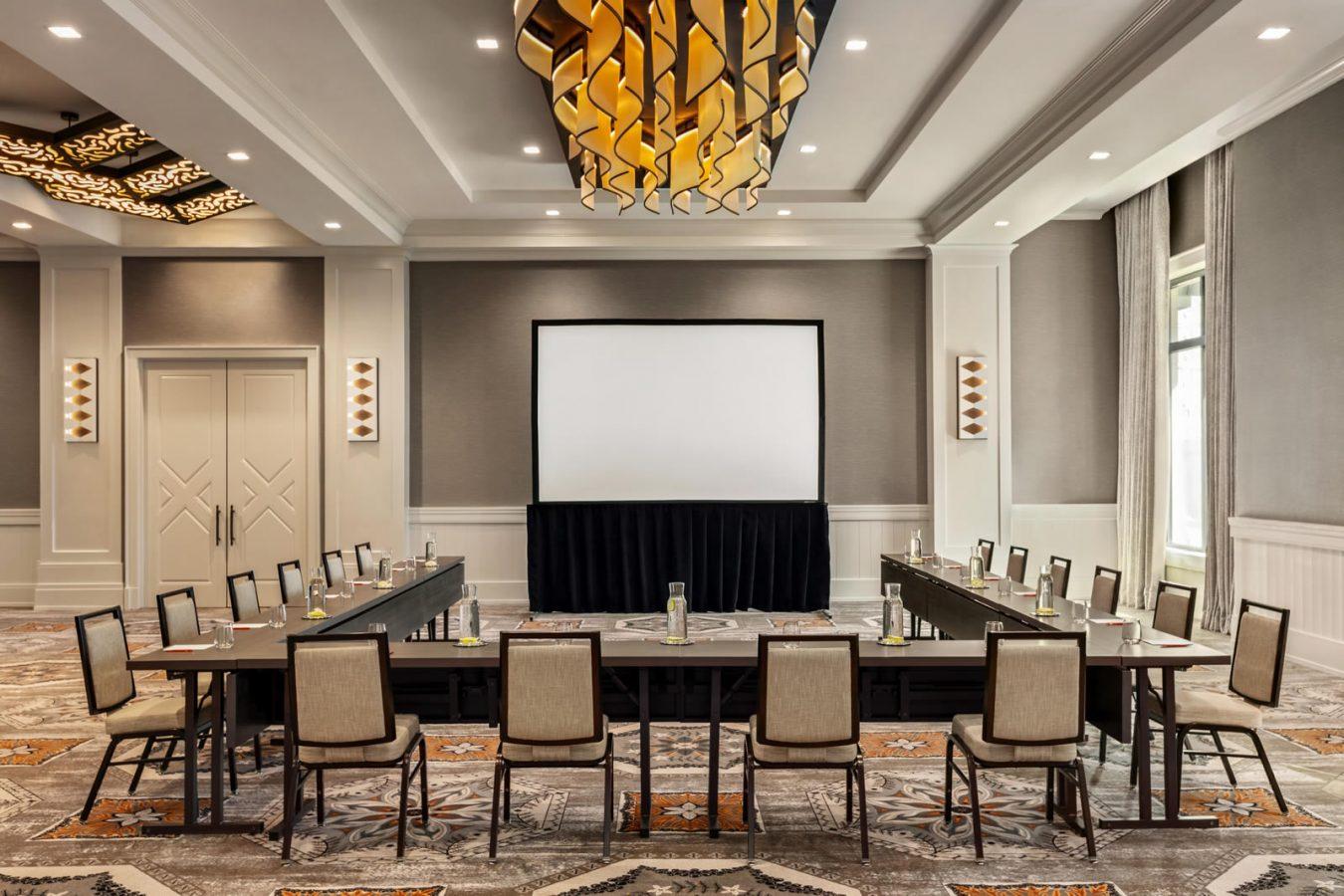 Business meeting in the Harpeth Riverside Ballroom