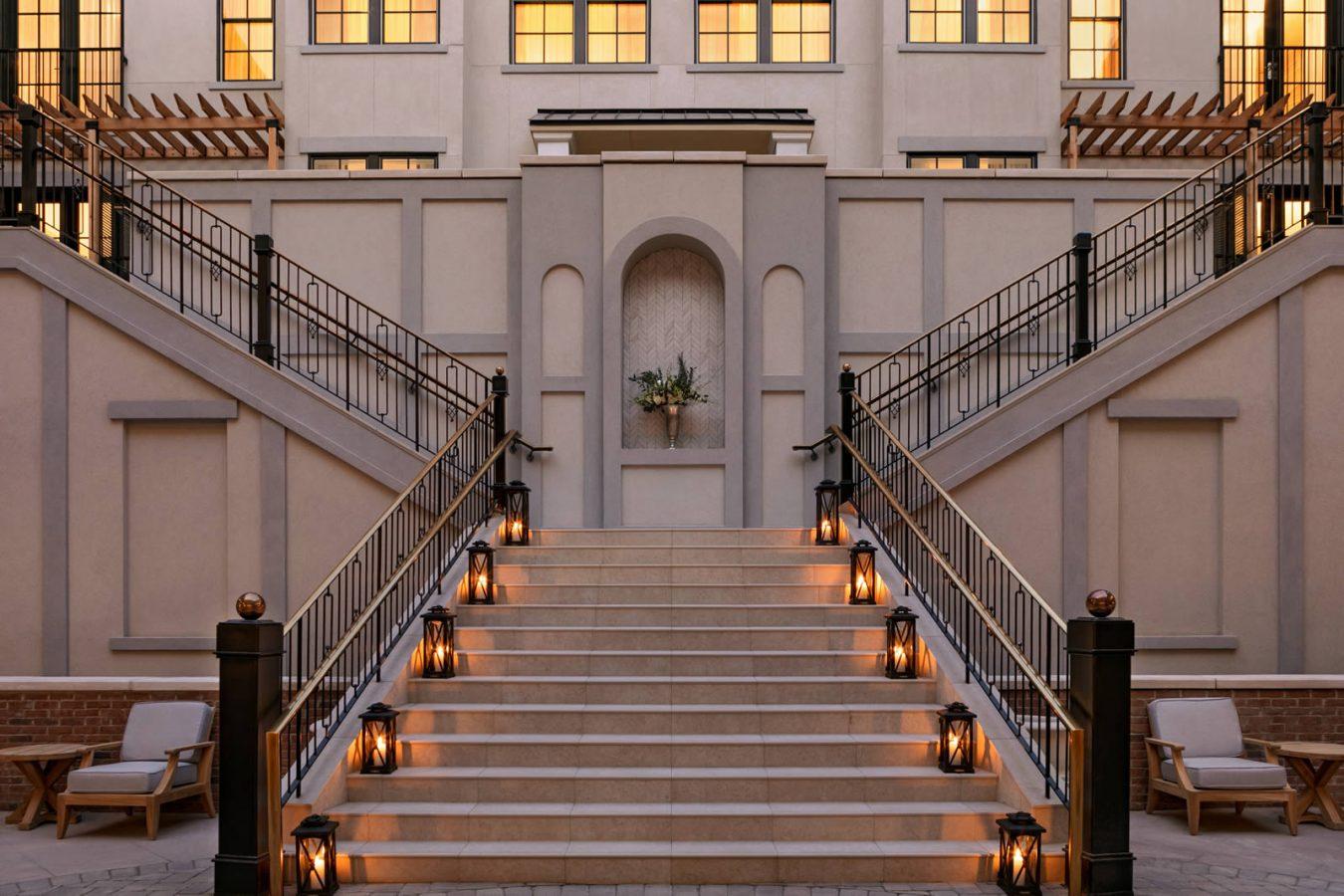 Outdoor terrace staircase