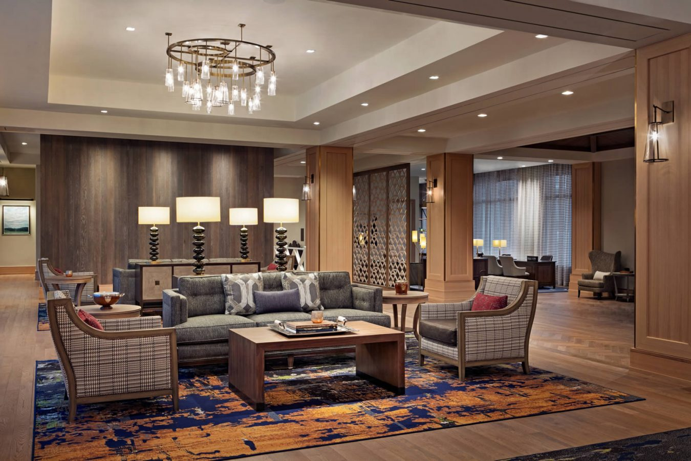 The lobby of the Hotel Harpeth, Downtown Franklin Hotel