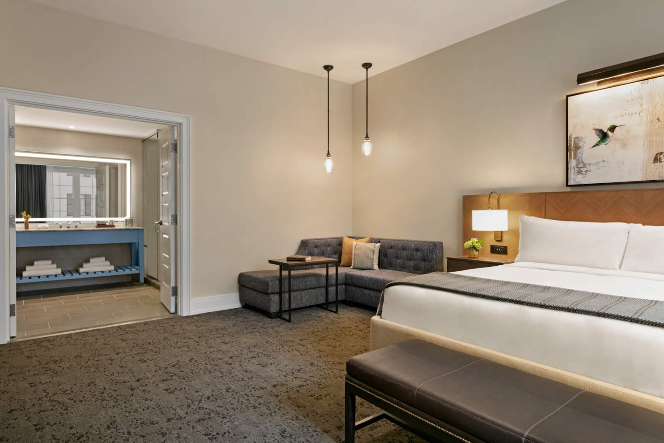 Presidential suite with king bed